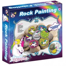 Unicorns Rock Painting